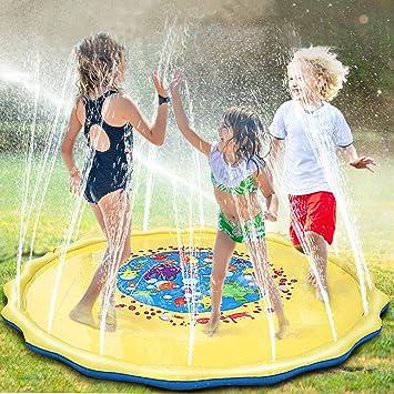 Giochi D Acqua.Unique Store 68 170cm Bambini Giochi D Acqua Splash Play Mat Sprinkler Pad Gioco Di Spruzzi D Acqua Tappetino Portatile Durevole Giardino