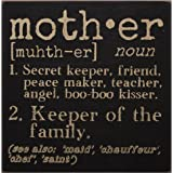 The Definition of Mother - Decorative Wood Sign 6-in x 6-in by