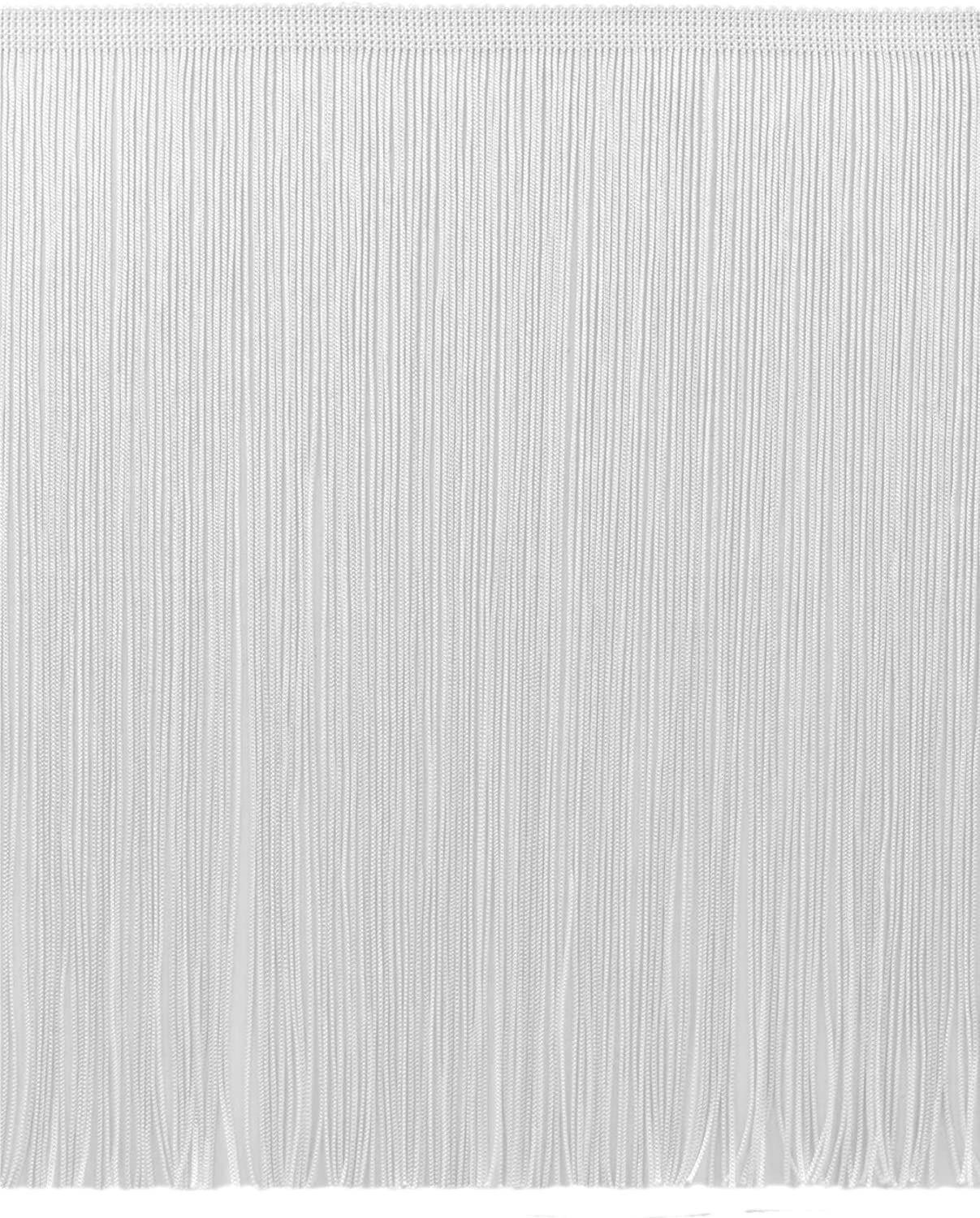 A1 Style# CF12 Color: White Sold by The Yard D/ÉCOPRO 12 Inch Chainette Fringe Trim