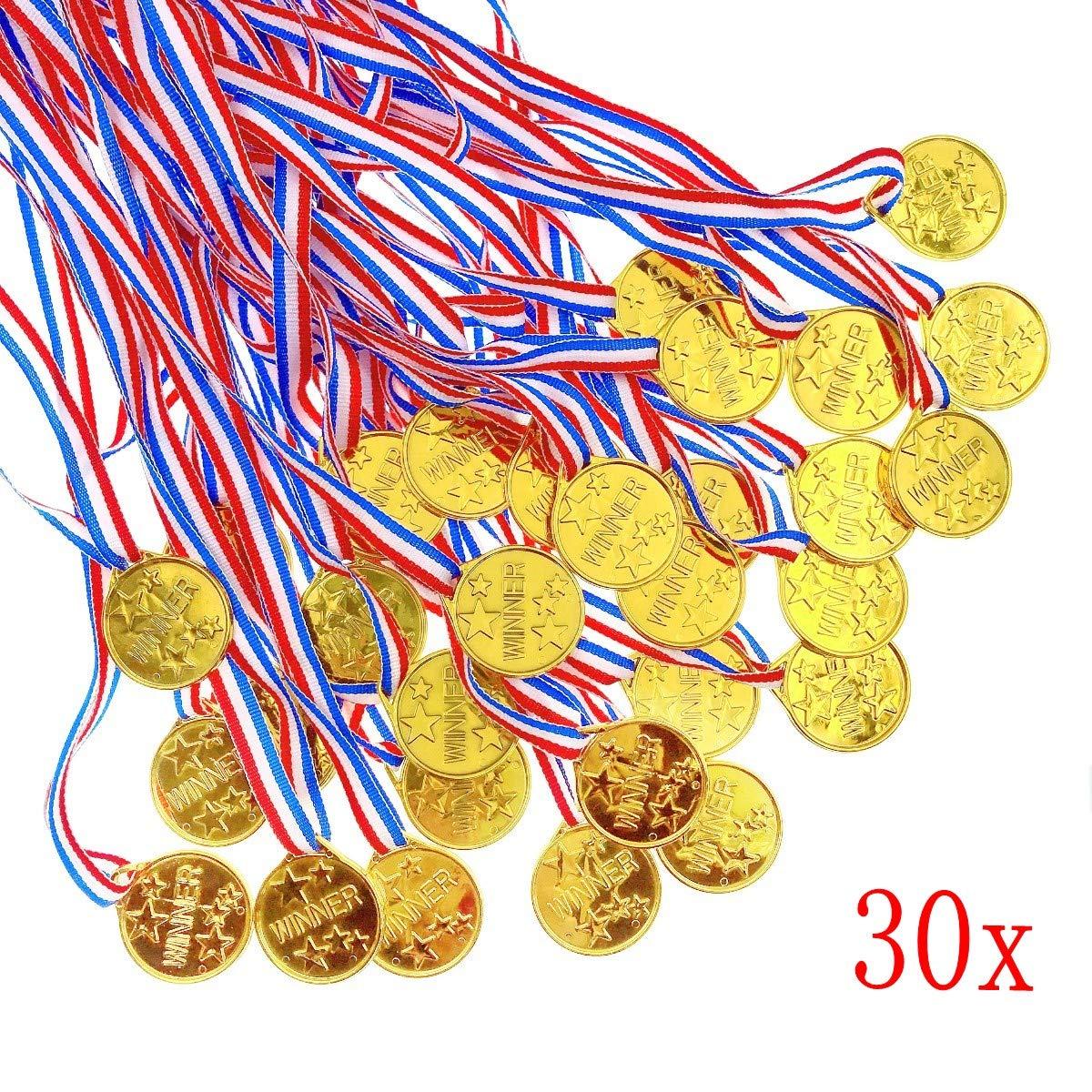 adelstitel kaufen.com JZK 20 x Giocattolo medaglia Oro plastica ...