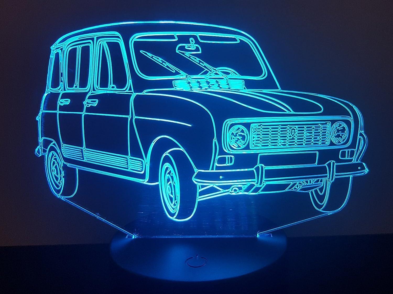Lampe 3D Motif: Renault 4L