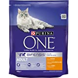 Purina ONE Adult Chicken and Whole Grains Dry Cat Food 800 g (Pack of 4)