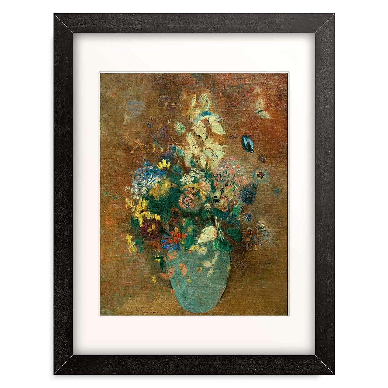オディロンルドン Odilon Redon 「Le vase vert (Die grune Vase)」 額装アート作品 B07P7KFPZT 06.木製額 22mm(ブラック) XL(額内寸 727mm×545mm)