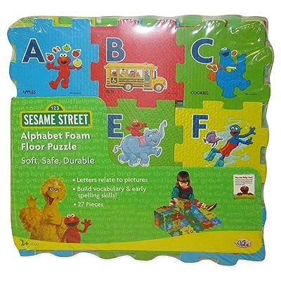 Sesame Street Alphabet Foam Floor Puzzle: Toys & Games