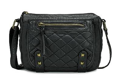 2459cc7f88f Scarleton Trendy Quilted Center Crossbody Bag H198901 - Black ...