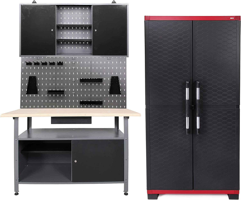 Taller Configuración 120 cm + Powe rcab gris de banco Armario para ...