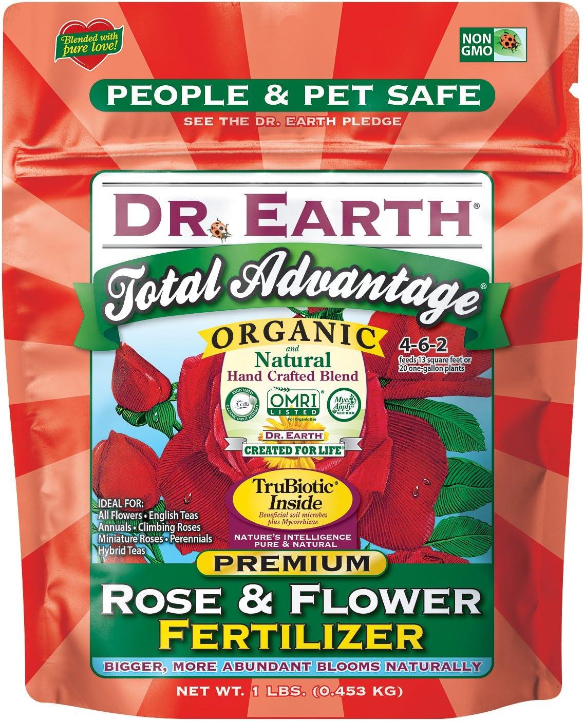 Dr. Earth 72855 1 lb 4-6-2 MINIS Total Advantage Rose and Flower Fertilizer