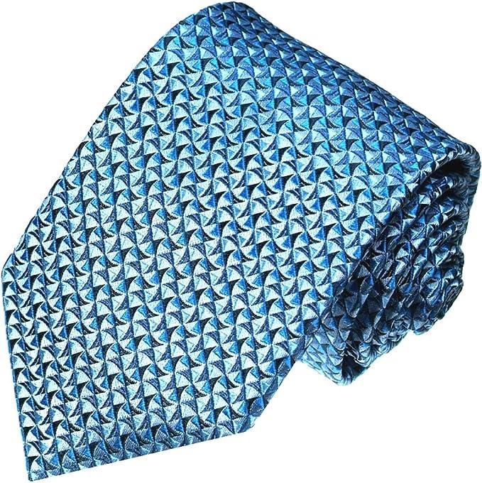 LORENZO CANA – Marcas corbata azul claro azul – Hecho a mano de ...