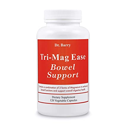 Magnesium Constipation Relief - Tri-Mag Ease Bowel Support with Magnesium Citrate, Magnesium Oxide,...