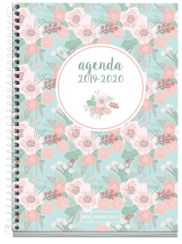 Miquelrius Agenda Escolar 19/20 Semana Vista Floral Castellano
