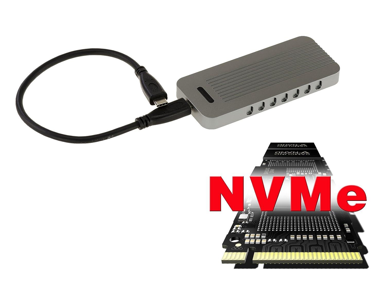 KALEA-INFORMATIQUE. Caja Externa SSD M2 USB 3.1. Compatible M.2 NGFF M Key AHCI + NVMe Gen 3.0