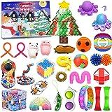 Christmas Gift Fidget Toys 24 Days Countdown Advent Calendar with 27PCS Pressure-Relief Fidget Toys Pack, Sensory Fidget…
