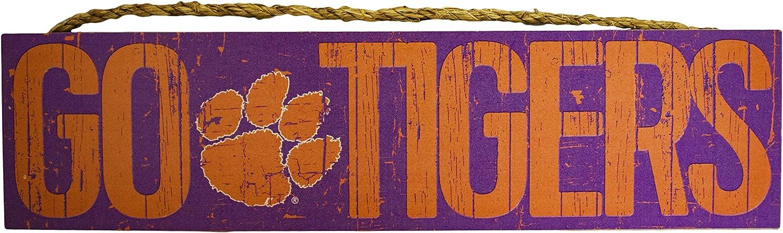 "Fan Creations NCAA Clemson Tigers 24"" x 6"" Slogan Wood Sign - Large"