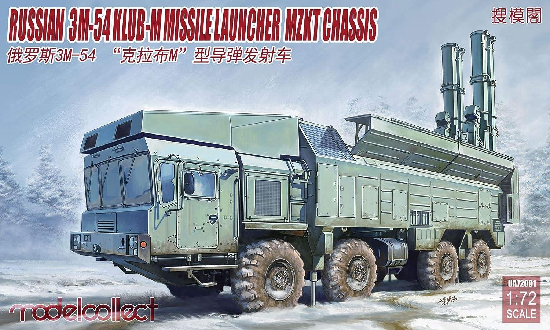 Model Collect 1/72 Scale Russian 3M-54 Caliber(Club)-M Coastal Defense Missile Launcher Mzkt Chassis - Plastic Model Building Kit # UA72091