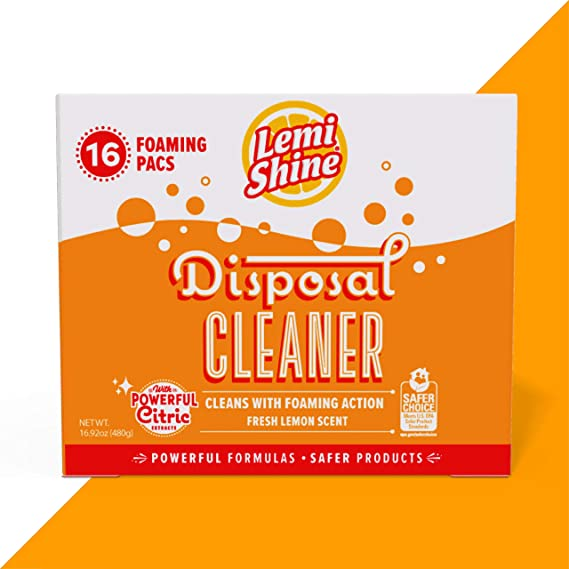 Amazon Com Lemi Shine Garbage Disposal Cleaner And Deodorizer Kitchen Garbage Disposal Cleaner With A Natural Fresh Lemon Scent 16 Total Packaging May Vary Kitchen Dining