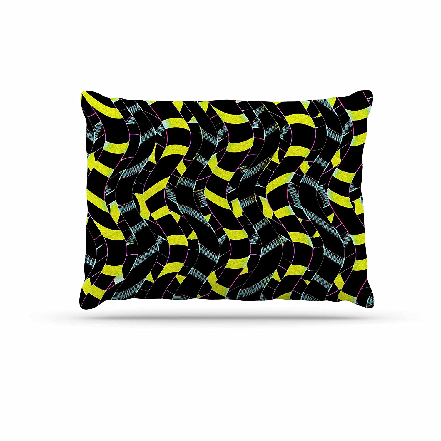 KESS InHouse Dawid ROC Waves in Ropes Abstract 1  Yellow Abstract Dog Bed, 30  x 40