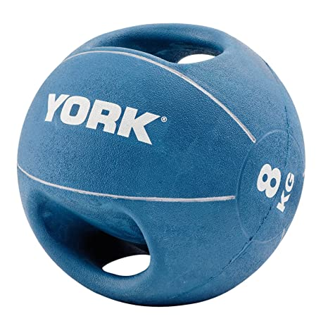 York Fitness - Balón medicinal, doble agarre, 8 kg: Amazon.es ...