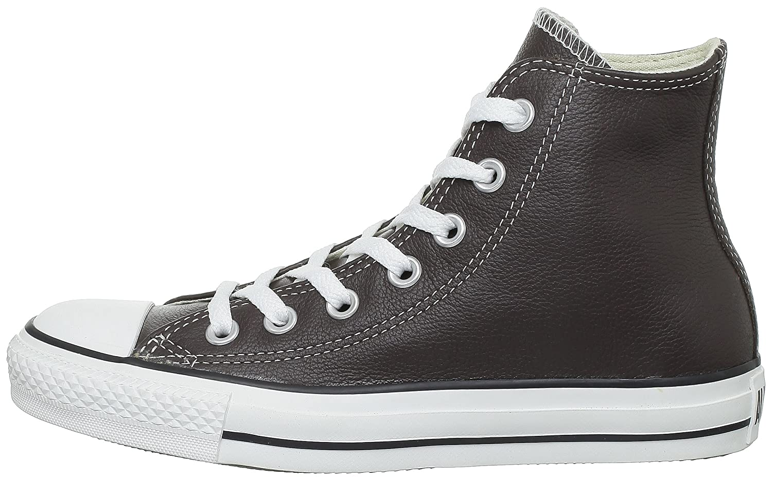 Converse Chuck Taylor All Star Leather High Top Sneaker B006OCAMHE 5.5M B(M) US|Chocolate