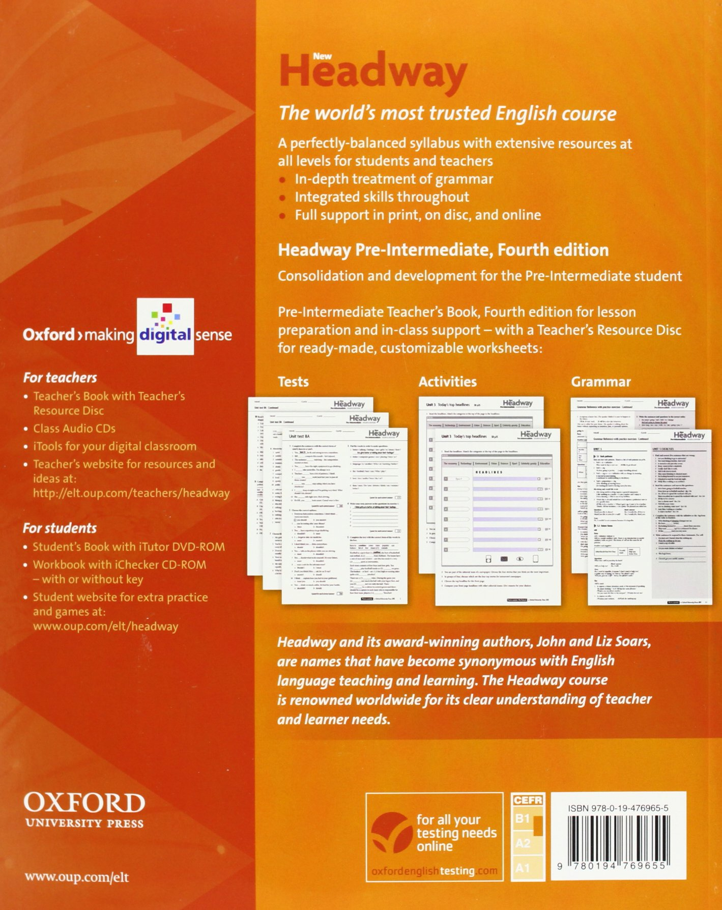 New Headway Pre-intermediate 4th Edition Student Book