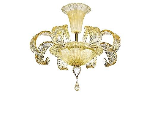 Rossini Plafoniere Led : Rossini illuminazione 2090 55 am plafoniera in vetro: amazon.co.uk