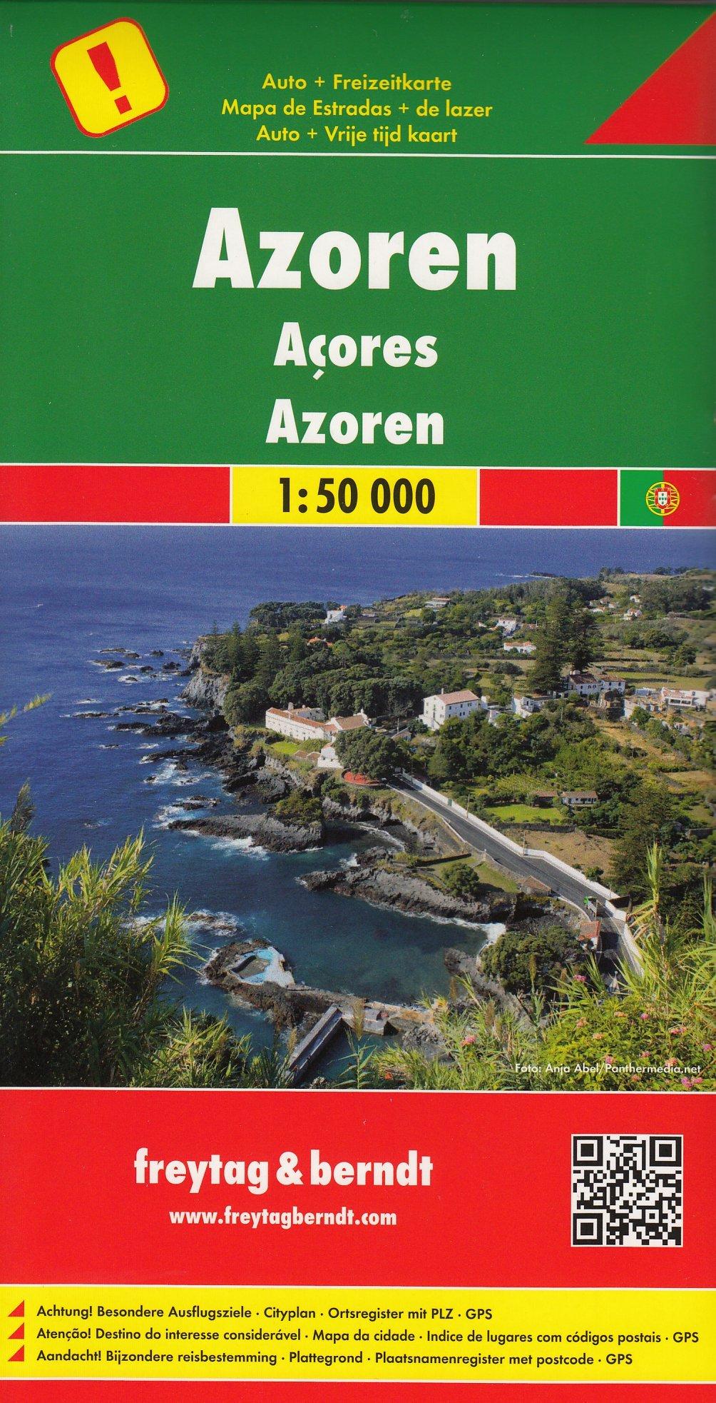Azores 1 50 000 Mapa De Carretera Y Ocio Amazon Es Freytagmaps