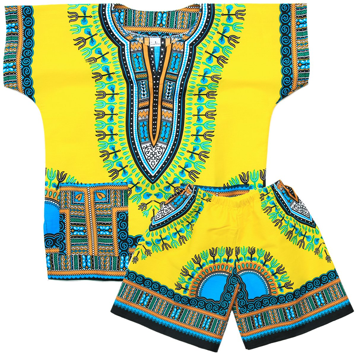 Cotton Kids African Mexican Toddler Boys Girls Dashiki /& Shorts Set bm011y