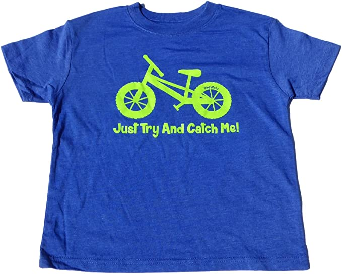 for Youth Girls ZippyRooz Kids Fat Tire BMX Bike Tee Shirt Grip It and Rip It