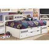 Ashley Zayley White Storage Full Size Bed