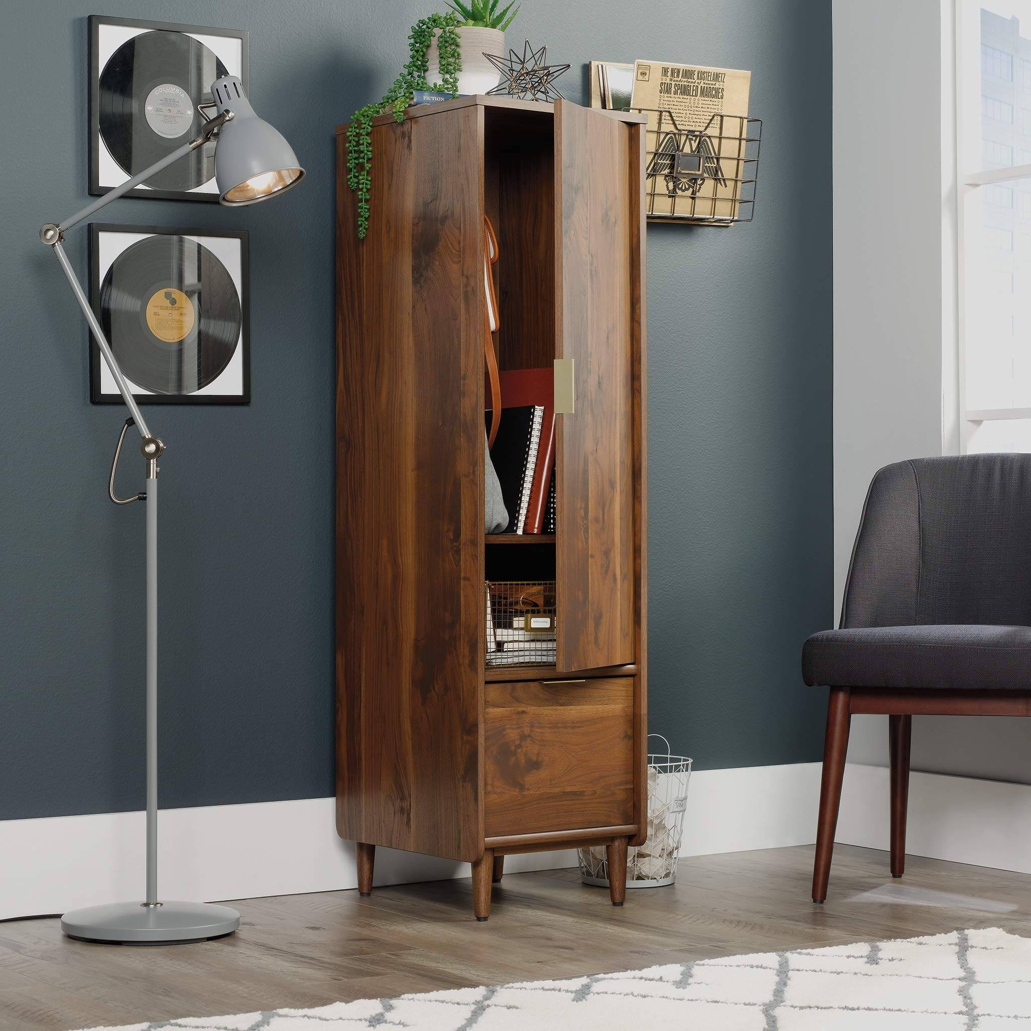 Sauder 421318 Clifford Place Storage Cabinet with File, L: 15.51'' x W: 18.50'' x H: 58.27'', Grand Walnut Finish by Sauder (Image #3)
