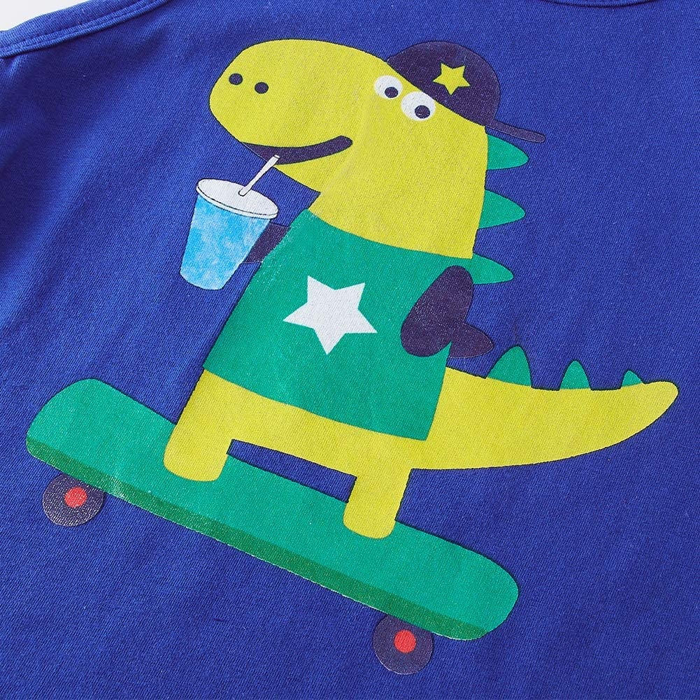 uideazone Baby Boy Clothes Shark Print Summer Sleeveless Outfit Set Tops and Short Pants