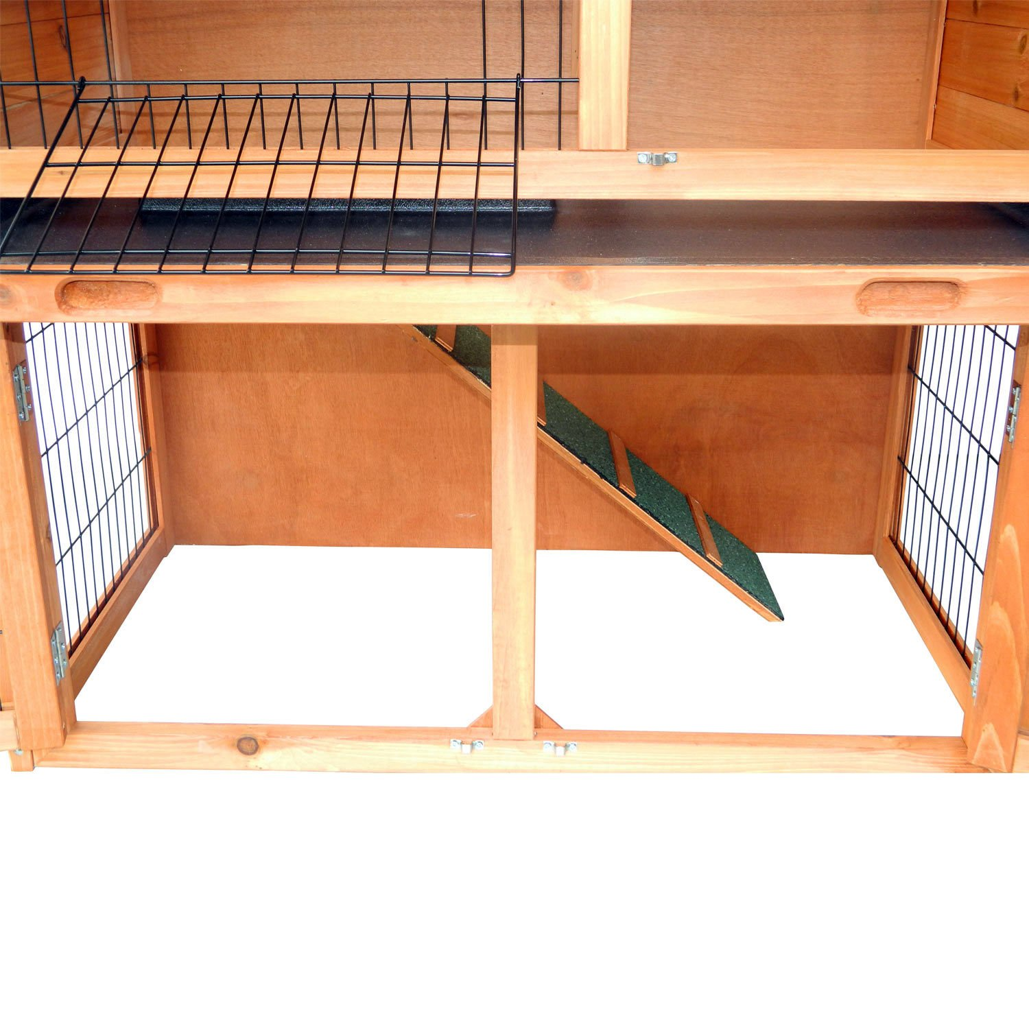 Wooden Rabbit Hutch Small Animal House Pet Cage Chicken Coop A-Frame 40''Pet Holds Cages Home - House Deals by House Deals (Image #8)