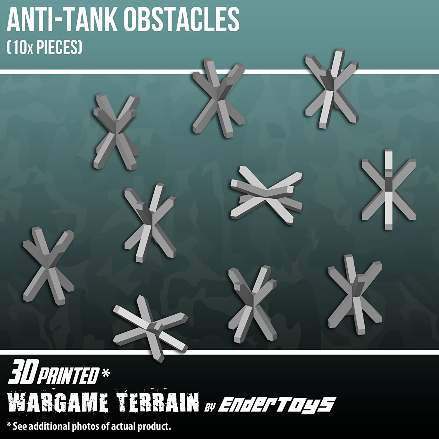 Anti-tank Obstacle, Terrain Scenery for Tabletop 28mm Miniatures ...