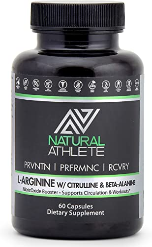 L Arginine Citrulline Nitric Oxide Workout Supplement for Men Women 1200mg Muscle Growth, Circulation, Energy Libido 60 Pills