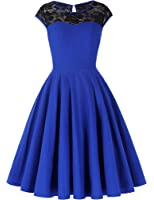 Belle Poque Retro Vintage Lace Verbindung Petticoat Kleid Partykleider Cocktailkleider