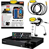 Sony BDP-S3700 4K Upscaling Blu-ray Disc Player With Built In Wifi - 5 Pack Kit - Remote Control - 3 Pc Cleaning Kit - 10 FT High speed HDMI Cable - Xtreme Ear Buds (1 Year Warranty)