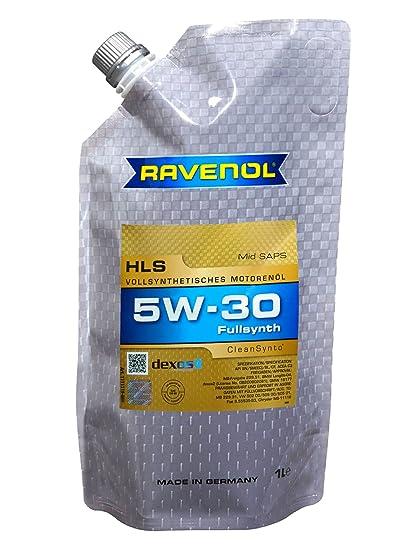Amazon.com: Ravenol J1A1530 HLS 5W-30 Fully Synthetic Motor Oil - GM Dexos2, MB 229.51, Longlife-04 (1 Liter Doypack): Automotive