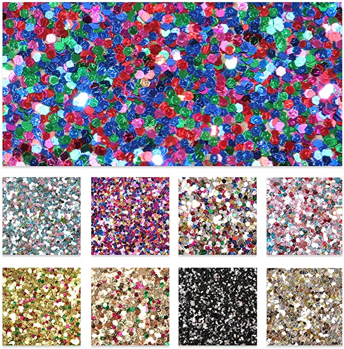 8x11 Faux Leather A4 Vinyl Fabric Sheet DIY Hair Bows Earrings DIY Neons: Glitter Faux Leather Sheets