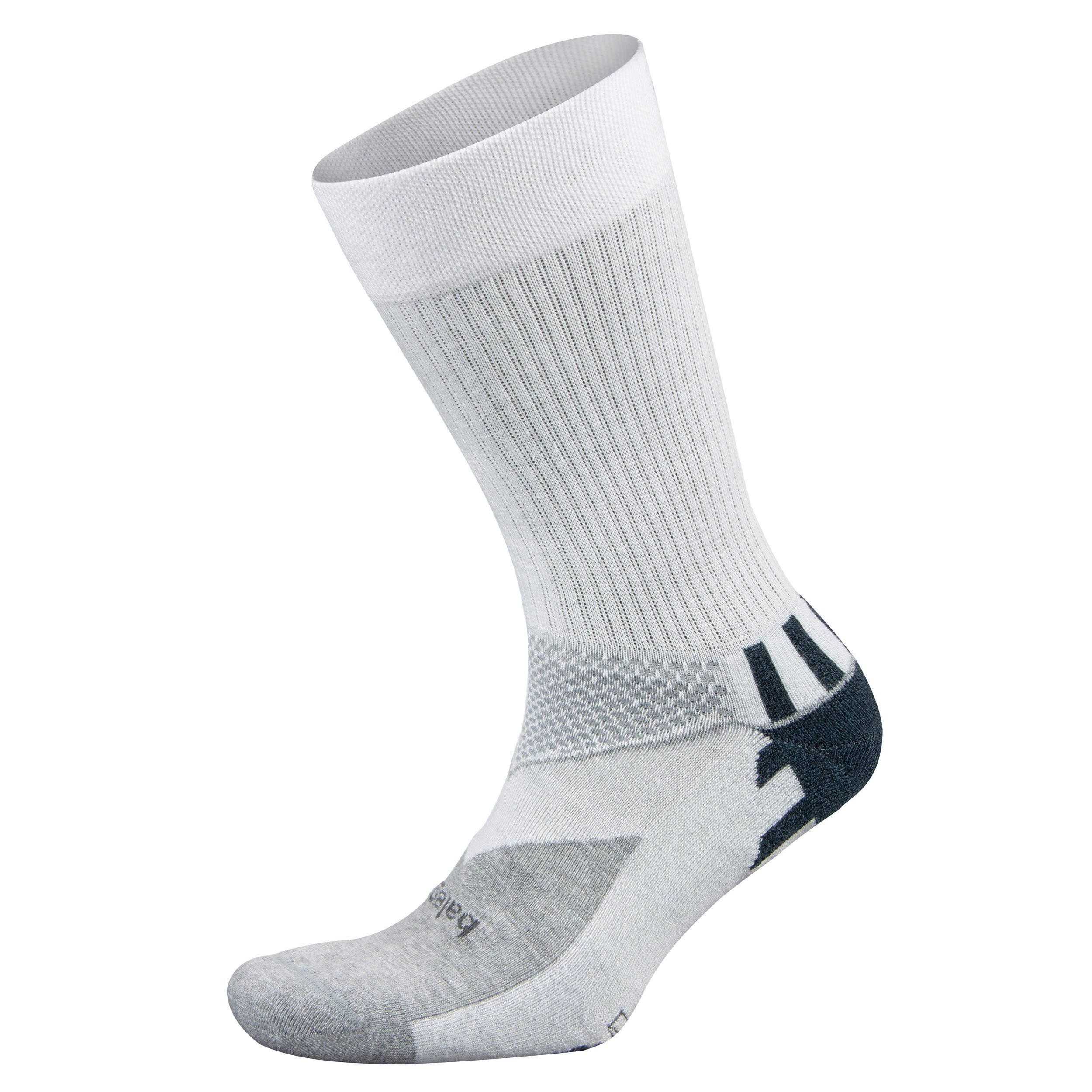 Balega Enduro V-Tech Crew Socks For Men and Women (1 Pair), White/Grey Heather, Small by Balega