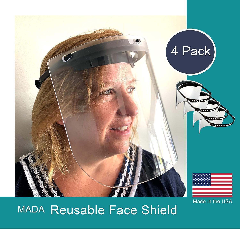Medical Face Shield Visor Reusable Made in USA no rubber band needed.