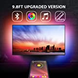 Nexillumi 9.8 Feet TV Backlights USB Light Strip Kit APP Control Sync to Music, Bias Lighting, 5050 RGB Waterproof IP65…