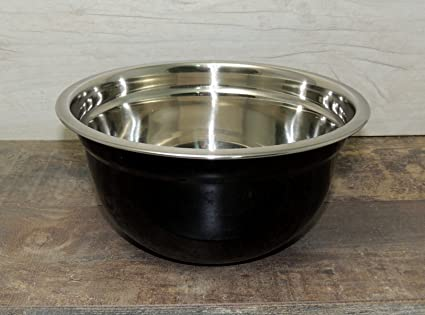 Bol para mezclar (26 cm), color negro cocina ensalada ...