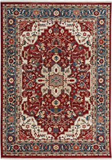 "product image for Alden-Medallion Classic Red 5' 1"" x 7' 5"" Rectangle Machine Woven Rug"