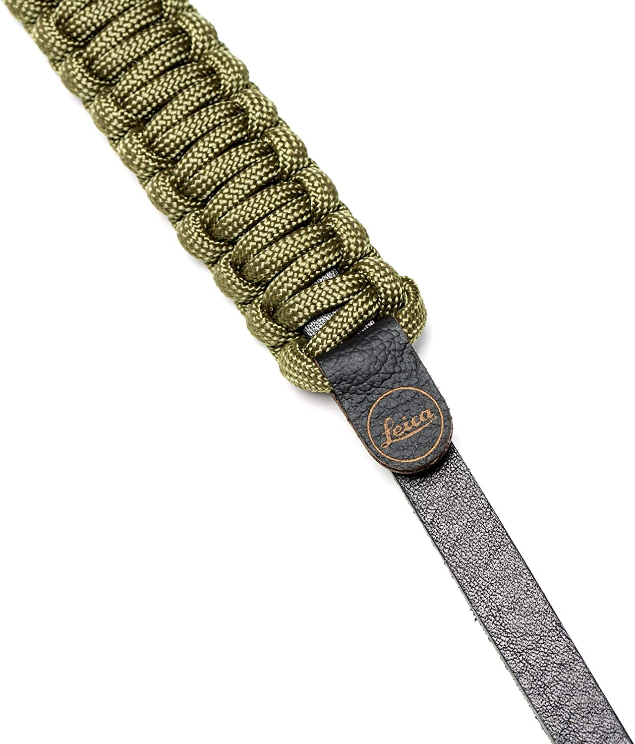 for Leica Sony Canon Nikon DSLR Mirrorless Cameras 126cm Leica Camera Paracord Strap Created by COOPH Neck Strap Shoulder Strap Made from Paracord Rope and German Leather Black//Olive