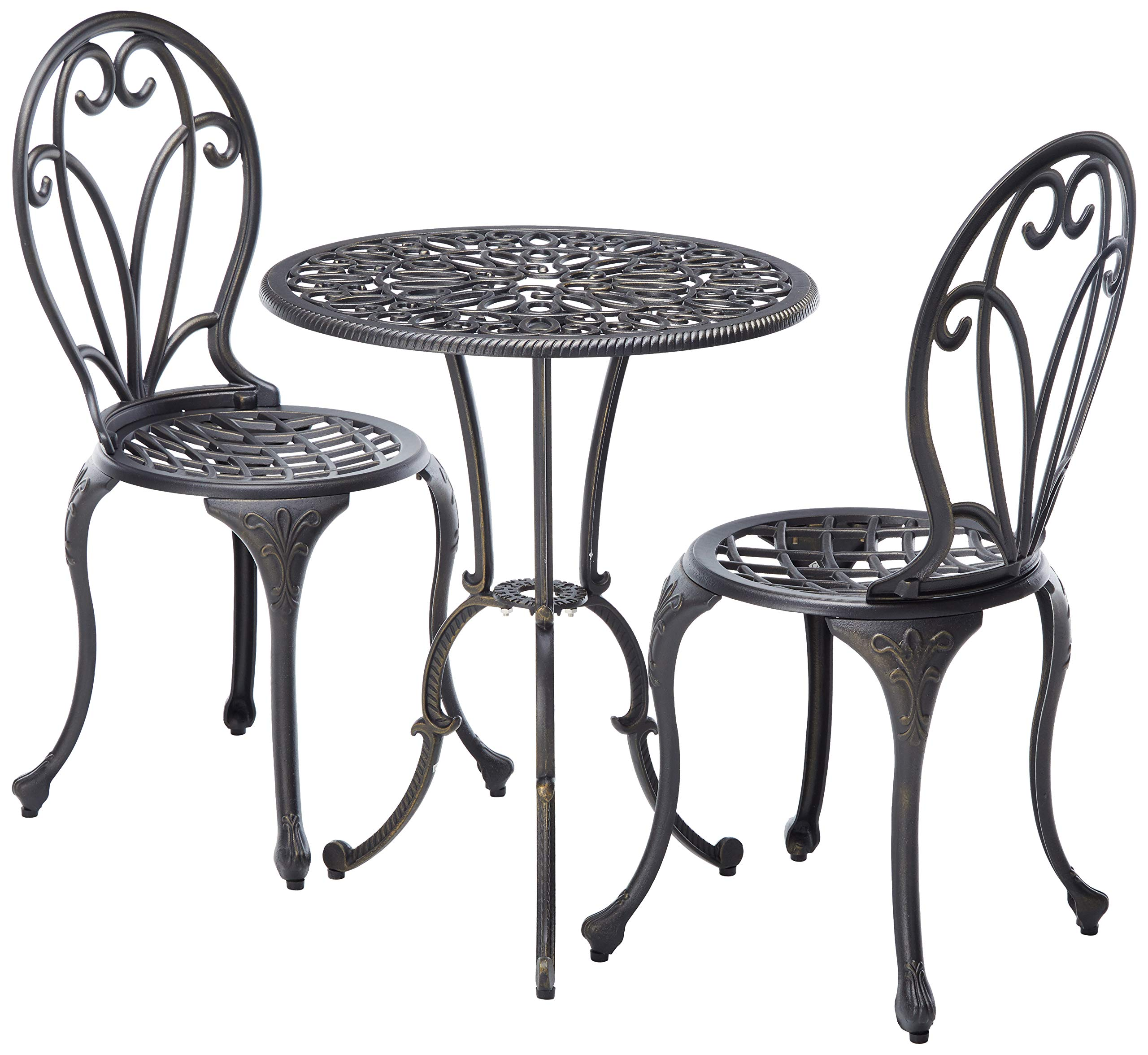 Christopher Knight Home 234795 Angeles CKH Outdoor Metal Bistro Set Copper