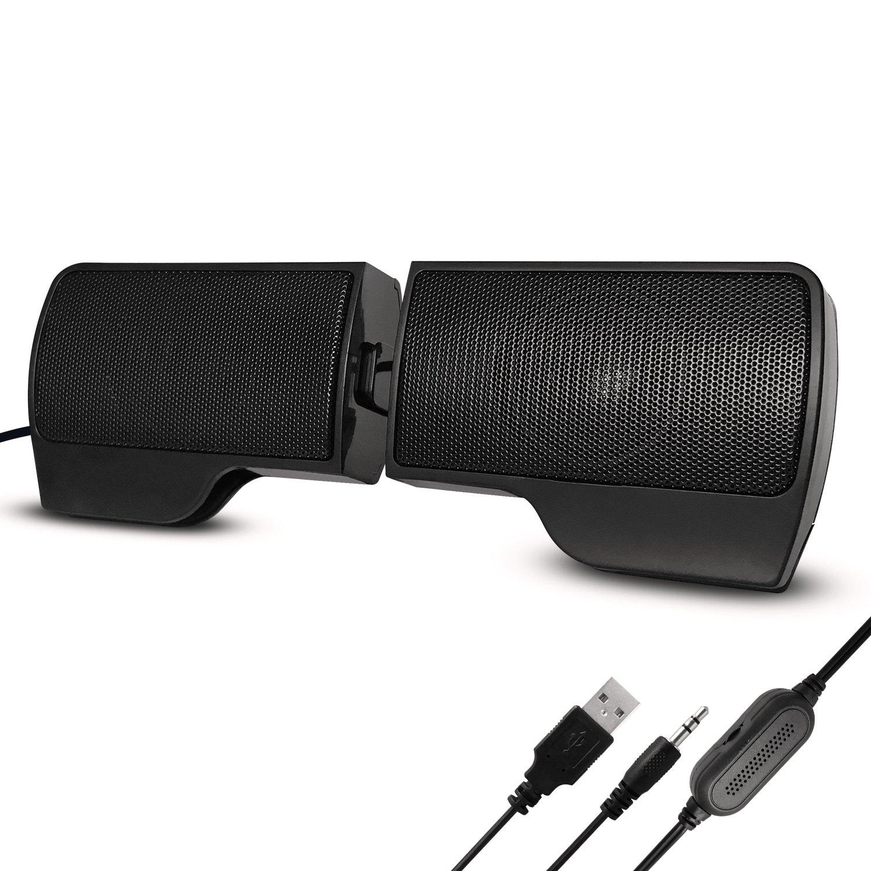 Ordinateur Enceintes, Mini Enceintes Haut Parleur Enceintes Portables Enceintes PC Speaker USB avec Fil Compatible Avec la Prise pour Ordinateur Asus / Acer / Samsung / Dell / Toshiba / HP / Sony, etc WeGood