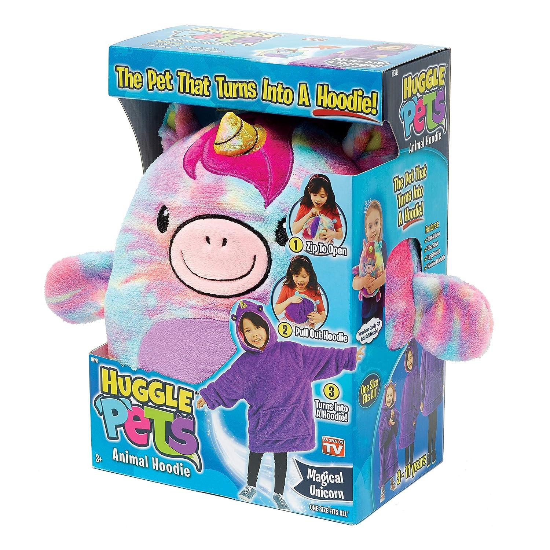Ontel Huggle Pets Rainbow Unicorn Animal Hoodie
