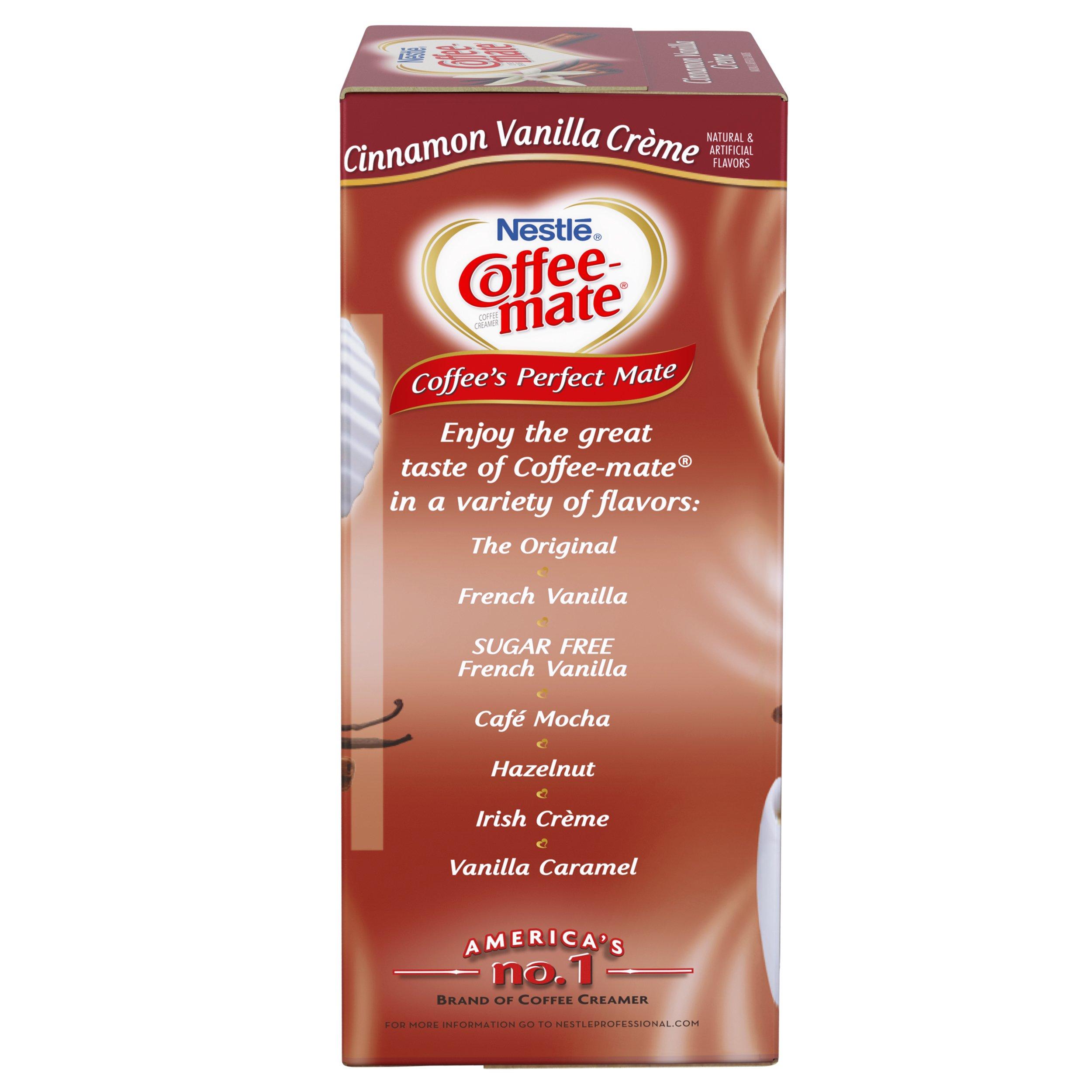 NESTLE COFFEE-MATE Coffee Creamer, Cinnamon Vanilla Creme, 0.375oz liquid creamer singles, 50 Per Box (Case of 4 Boxes) by Nestle Coffee Mate (Image #5)