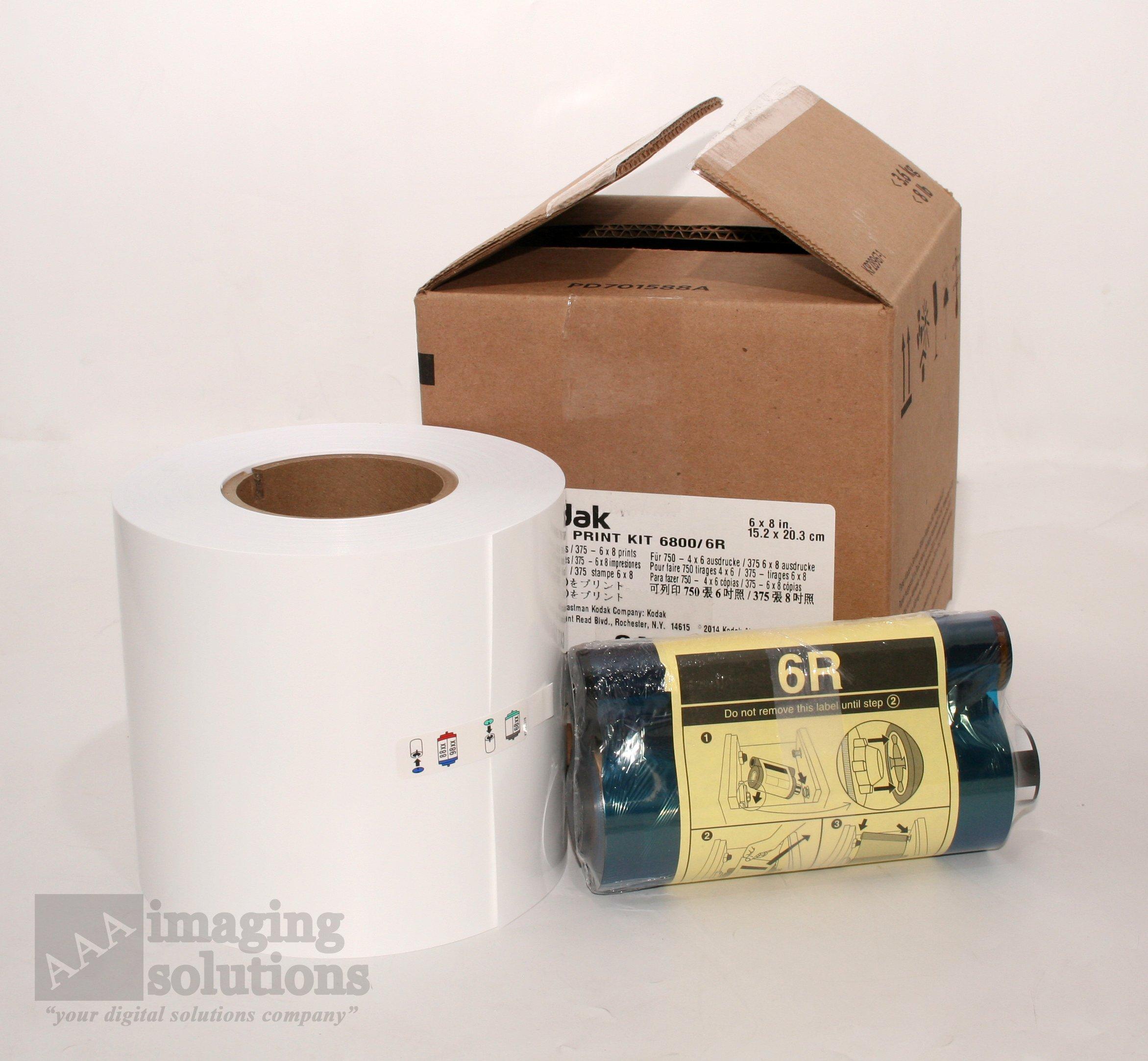 Kodak Photo Print Kit for the 6800 Thermal Printer, 6R - Ribbon & Paper for 375 6'' x 8'' Glossy Prints
