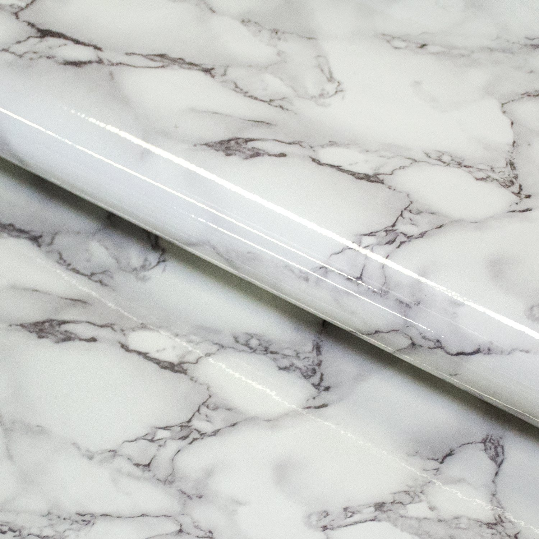 Craftopia Marble Contact Paper Granite Gray White Roll Self