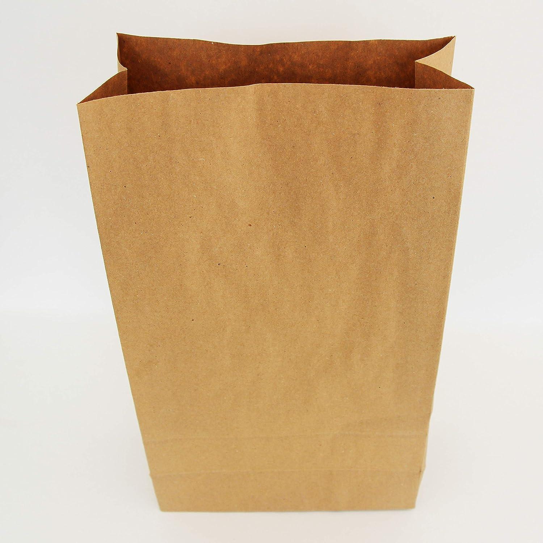 Extiff Set di Sacchetti Buste Carta Kraft Senza Manico 34,5/x 20/x 9/cm bustine recyclables per Alimentare o Oggetti